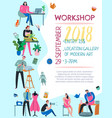 creative workers poster vector image vector image