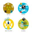 flat icons concept 8 vector image