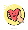 for Valentines Day greeting card vector image
