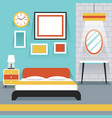 Furniture Display in Room Bedroom vector image vector image