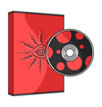 game disc single icon in cartoon style for design vector image