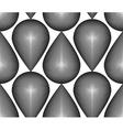 Geometric monochrome stripy seamless pattern black vector image vector image