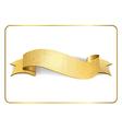 Gold ribbon foil on white 1 vector image vector image