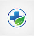 health cross leaf symbol vector image