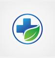 health cross leaf symbol vector image vector image
