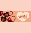 holiday banner valentines day vector image vector image