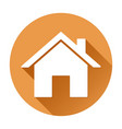 home page icon orange round sign vector image