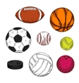 Ice hockey puck with balls for various sport games vector image