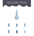 isometric construction set of exterior urban vector image vector image