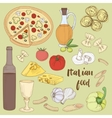 Italian food set vector image vector image
