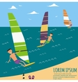 Male Surfer Riding on Waves in the Sea vector image vector image