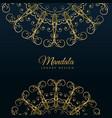 mandala ornamental luxury golden background vector image vector image