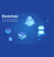 modern virtual digital technology blockchain vector image vector image