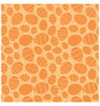 orange easter seamless pattern with decorated eggs vector image vector image