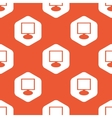 Orange hexagon monitor pattern vector image vector image