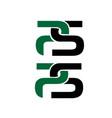 p s logo designs simple modern for management vector image