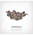 people map country Mongolia vector image