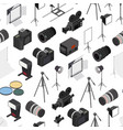 photo studio equipment seamless pattern background vector image vector image