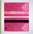 Pink Gift Card vector image vector image
