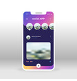 purple liquid social network ui ux gui screen for vector image vector image