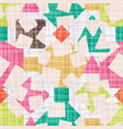retro design fabric with geometric shapes vector image vector image