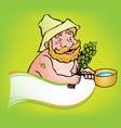 sauna man vector image vector image
