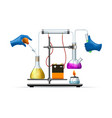 scientific lab experiment vector image vector image