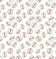 Seamless pattern with coffee grain in sketch style vector image vector image