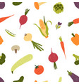 seamless pattern with fresh organic vegetables or vector image vector image