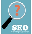 SEO - Search Engine Optimization Flat Icon vector image vector image