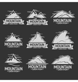 Set of mountain exploration vintage logos emblems vector image vector image