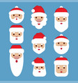 set santa claus cartoon character vector image vector image