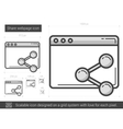 Share webpage line icon vector image vector image