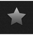 Silver Star symbol vector image vector image
