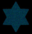 six pointed star composition icon of halftone vector image