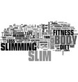 slimming word cloud concept vector image vector image