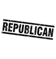 square grunge black republican stamp vector image vector image