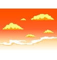 sunset sky with clouds vector image