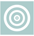 target the white color icon vector image