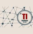thallium chemical element vector image vector image