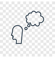 thought concept linear icon isolated on vector image