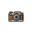 vintage camera or retro camera vector image