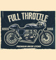 vintage motorcycle poster texture is easy to vector image vector image