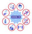 ways to effective protect against covid19 19 vector image