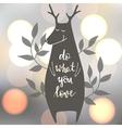 with deer vector image vector image