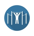 Workout Icon Flat Design vector image vector image