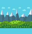 panoramic mountain cartoon landscape vector image