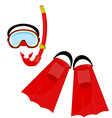 Red swimming equipment vector image
