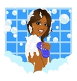 african american woman taking a bath vector image