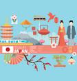 japan background design on japanese theme vector image